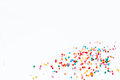 Sprinkles on a white background. Royalty Free Stock Photo