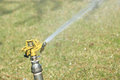 Sprinkling irrigation the system is working Royalty Free Stock Images