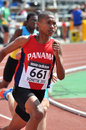 Sprinter from panama during the iaaf world junior championships on july in donetsk ukraine Stock Image