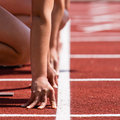 Sprinters start in track and field Royalty Free Stock Photo