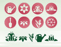 Sprintime Garden Icon Set 1 Royalty Free Stock Images