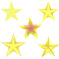 stock image of  Sprite sheet effect animation of a spinning golden star