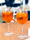 Spritz aperitif in a bar in venice Stock Photography