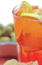 Spritz aperitif closeup in the glass Stock Photography