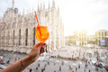 Spritz aperol drink in Milan Royalty Free Stock Photo
