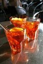 Spritz typical italian long drink Royalty Free Stock Photos