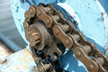 Sprocket and chain Royalty Free Stock Images