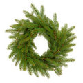 Spruce Fir Pine Wreath Stock Photos