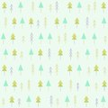 Spruces seamless pattern.