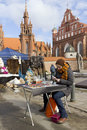 Spting faire in Vilnius, Lithuania Royalty Free Stock Photography