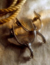 Spurs and Rope Royalty Free Stock Photo