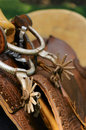 Spurs & saddle Royalty Free Stock Images
