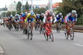 Spurt in bohemia cycling tour of main pelothon race held on Stock Image