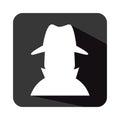 Spy avatar isolated icon