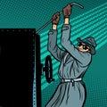 Spy breaks into safe