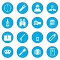 Spy icon blue Royalty Free Stock Photo