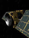 Spy satellite looking down from orbit Stock Image