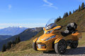 The spyder with on travel in mountain world of austria Royalty Free Stock Photos