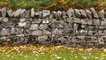 Spynie drystane dyke this is a on the driveway leading to castle elgin moray scotland translated is dry stone and is Royalty Free Stock Photo