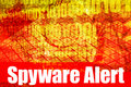 Spyware Alert Warning Message Stock Images