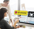 Spyware Computer Hacker Virus Malware Concept Royalty Free Stock Photo