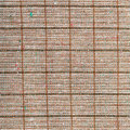 Square background from checkered brown wool fabric Royalty Free Stock Photo