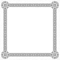Square black ornate frame. Royalty Free Stock Photo