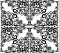 Square black on white floral design Stock Images