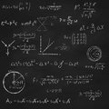Square Blackboard With Equations Royalty Free Stock Photography