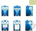 Square Blue Bird Royalty Free Stock Photo