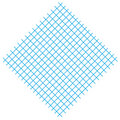 Square with blue lines Royalty Free Stock Image