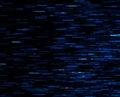 Square blue vivid 8-bit pixel dot interlaced space blast Royalty Free Stock Photo
