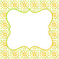 Square Border Frame Green Yellow