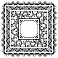 Square borders Stock Images