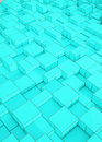 Square box shape pattern Blue according to the size and Background Royalty Free Stock Photo
