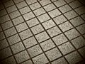Square bricks in grey with pinhole camera effect Royalty Free Stock Image