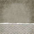 Square brown and white zigzag chevron torn grunge textured backg background with copy space at top Royalty Free Stock Photos