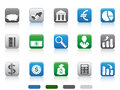 Square button of Finance and Banking icons Royalty Free Stock Photo