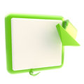 Square button with glossy arrow Stock Photo