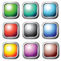Square buttons set. Royalty Free Stock Images