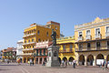 Square of carriages, Cartagena Stock Image