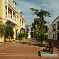 Square in Cartagena, Colombia Stock Photography