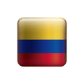 square with colors colombian flag Royalty Free Stock Photo