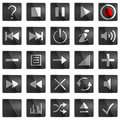 Square Control panel buttons Royalty Free Stock Image