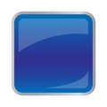 Square dark blue button for website Royalty Free Stock Photo