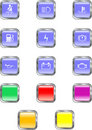 Square Dashboard Buttons Royalty Free Stock Photo