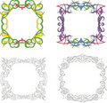 Square decoration frames Royalty Free Stock Images