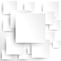 Square element white paper shadow create vector Stock Photos