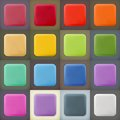 Square empty blanks web icons and buttons Royalty Free Stock Photo