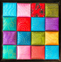 A square, Fabric texture collection and background Royalty Free Stock Photo